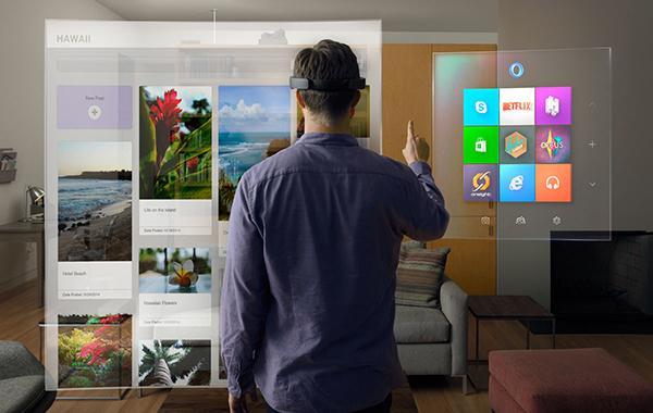 微软全息眼镜(HoloLens)的镜片透明可以看到外部世界,同时还是一个显示器,能够呈现3D动画,并且可以和现实世界很好的互动。 东方IC 资料
