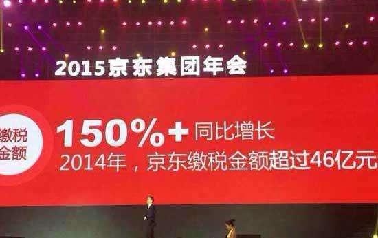 刘强东年会演讲:去年纳税超46亿 想盈利很容易