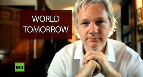 维基解密网站创始人朱利安·阿桑奇(腾讯科技配图