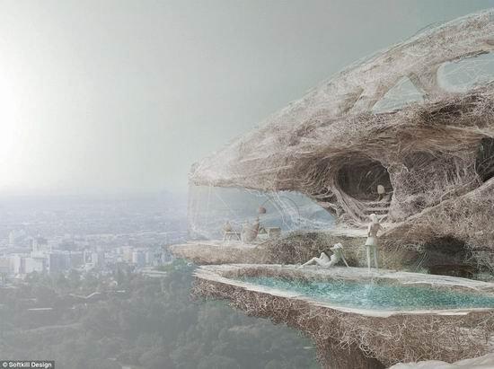 英设计师用生物塑料制造首个3D打印房屋模型