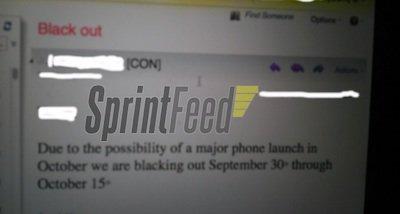 传Sprint暂停员工休假 为推iPhone 5准备