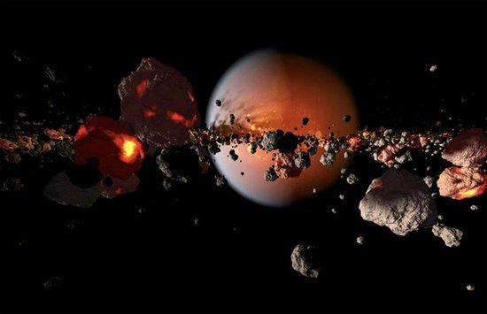 """月球起源于远古时期的""""火星""""撞地球"""