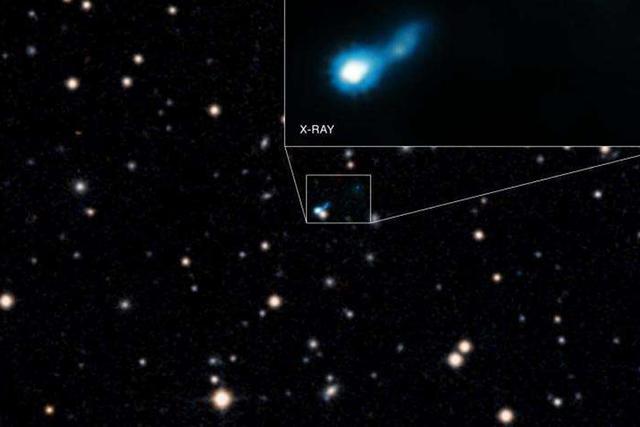 科学家发现宇宙早期黑洞释放巨大的长喷流