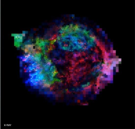 揭秘恒星爆炸三百年后奥秘 铁元素外翻之谜