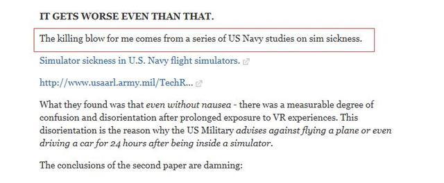 今天刷屏的美军专家是用了1989年的数据,来证明VR永远不会成功
