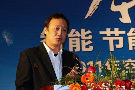 图文:美的制冷中国营销总部副总裁段振威讲话