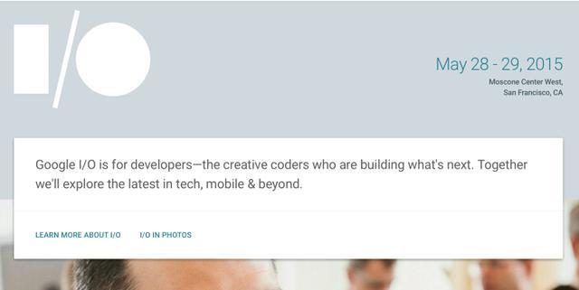 谷歌宣布5月28至29日召开I/O开发者大会