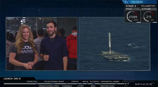 spacex成功回收火箭 首次在海上实现火箭回收