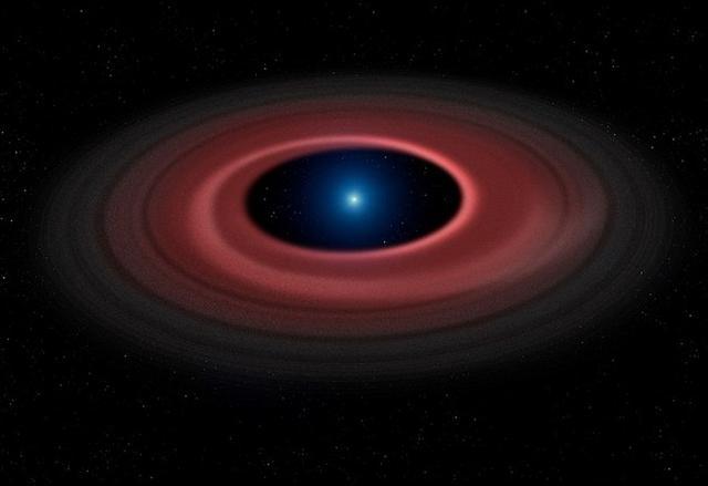 """""""僵尸恒星""""将小行星撕裂形成发光环状结构"""