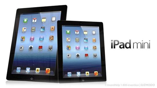 iPad mini与标准版对比图
