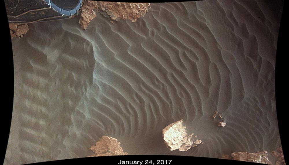 组图:火星出现巨大尘暴吞没了北部区域
