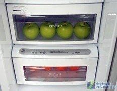 不锈钢金属外观 LG对开门冰箱16800元