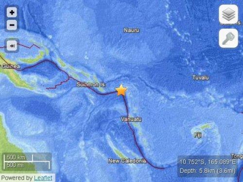 澳大利亚称不受所罗门群岛海域8级地震海啸影响