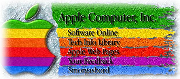 看上去真晕!这就是20年前苹果的首个首页