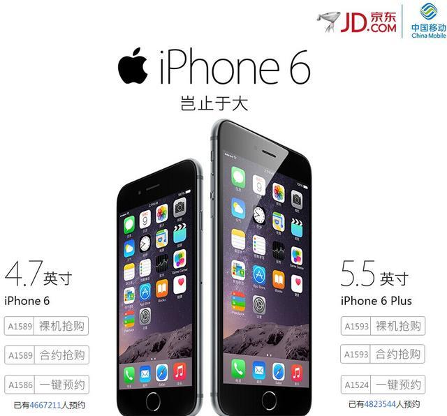 大陆iPhone 6预订量突破2000万部