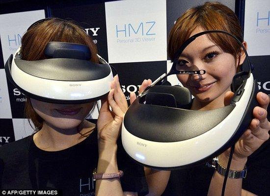 索尼公司推出世界上第一个三维头戴电影院
