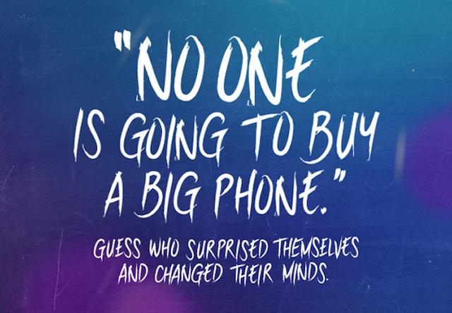 三星借乔布斯名言嘲笑苹果:没人会买大屏手机