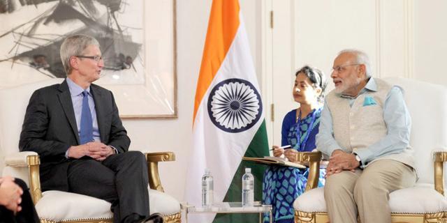 库克与印度总理莫迪会面 到底聊了些什么?