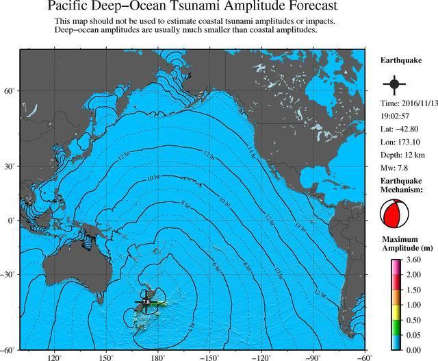 新西兰地震震级为7.8级 并已引发海啸