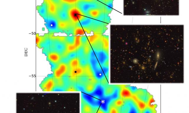 美暗能量相机首次拍摄到宇宙暗物质地图