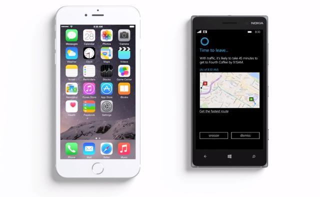 微软广告嘲笑苹果:iPhone 6 Plus 和Siri没有变聪明