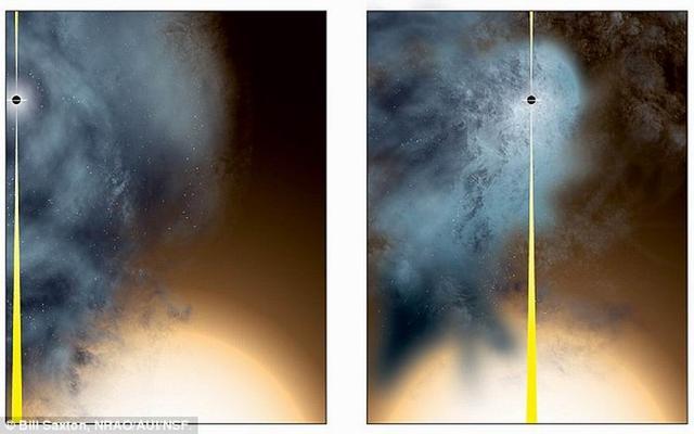 """小星系被大星系""""扒衣服"""" 露出裸体黑洞"""
