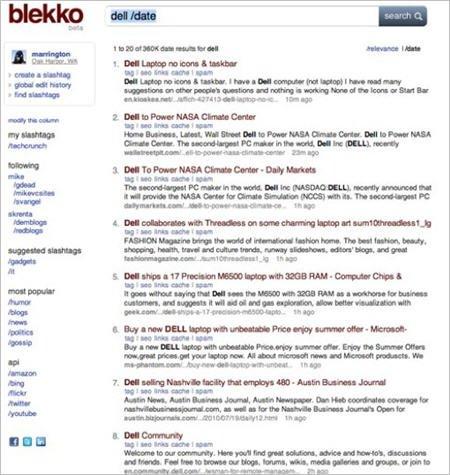 美新型搜索引擎Blekko将上线:与谷歌差异化