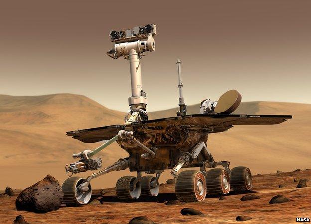 """火星上""""机遇""""号出现""""失忆"""" 已运行10年"""
