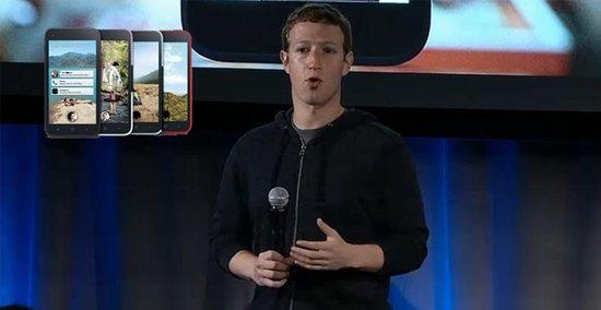 Facebok CEO扎克伯格在发布会现场