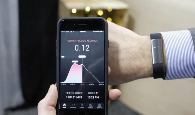 This smart wristband detectable blood alcohol concentration can predict when sober