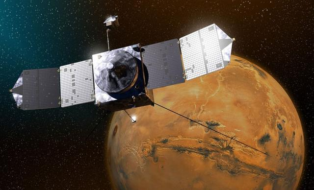 """美国宇航局纪念火星探测器""""马文号""""工作两周年"""