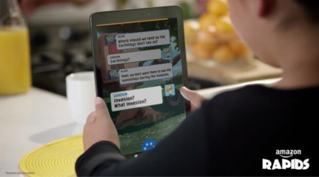 亚马逊推出儿童阅读应用Rapids:以对话形式向孩子讲故事
