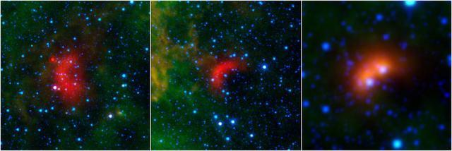 速逃星在宇宙空间遗留下红外绝响