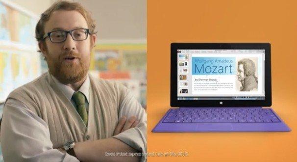 微软Surface 2新广告出炉 突出生产力优势