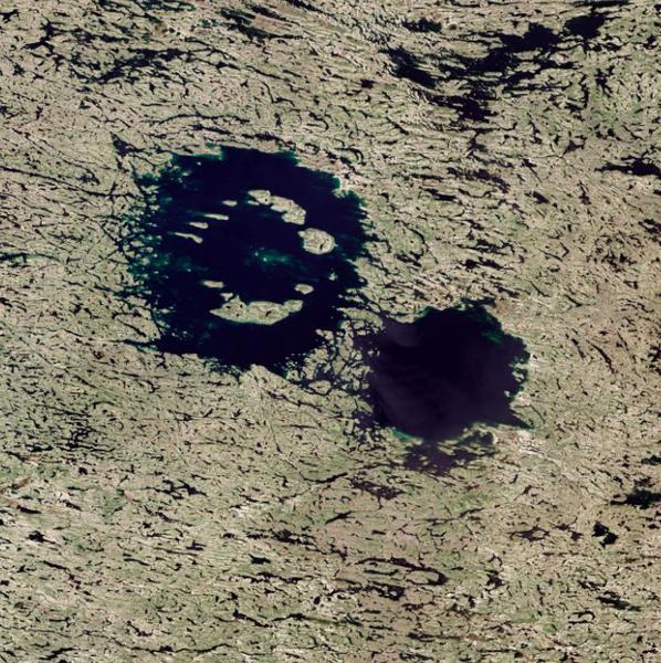 研究发现加拿大清水湖是两次小行星撞击形成