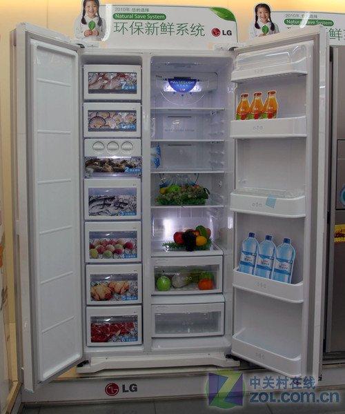 LG对开门冰箱8800元 LED光源加时尚外观