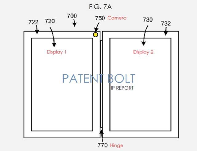 谷歌专利曝光了双屏幕E-Ink电子书设计图