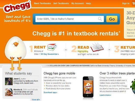 教科书租赁网站Chegg申请IPO 拟募资1.5亿美元