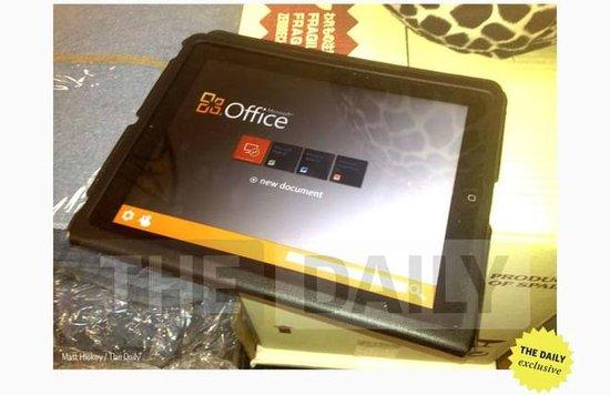 传微软将在未来数周内发布iPad版Office软件