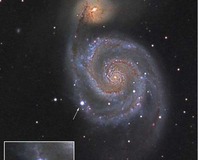 观测发现超新星外壳高速扩散 每秒1.9万公里