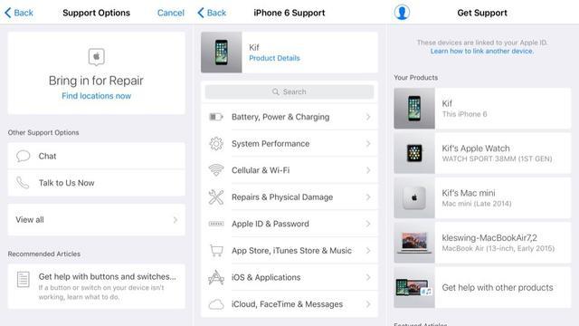 苹果推出新应用Apple Support 帮助用户排除故障