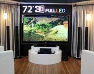 LG 72英寸3D电视