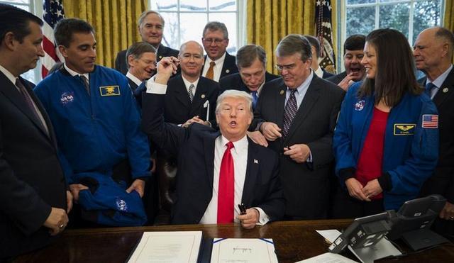 美国总统特朗普签署法案助推人类登陆火星