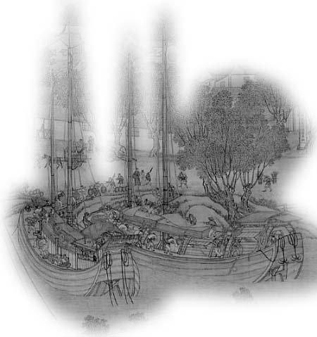 清明上河图中的漕运船