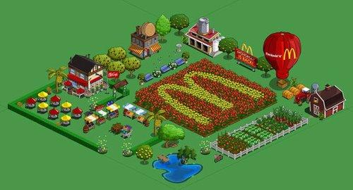 麦当劳试水社交游戏营销 美版开心农场投广告