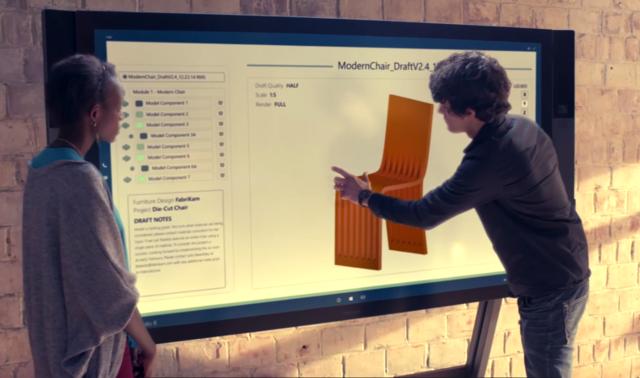 84英寸的平板Surface Hub什么感受?我们帮你先玩了