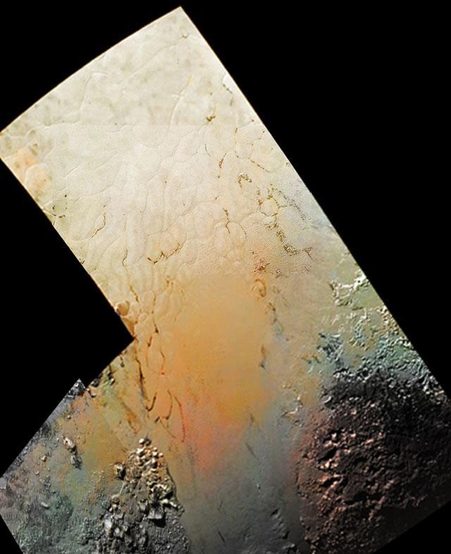 """冥王星""""爱心""""内有一片银色冰冻平原"""