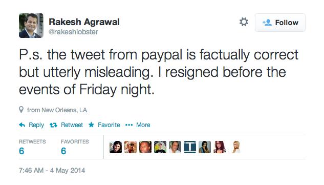 PayPal前高管发推特辱骂同僚被炒