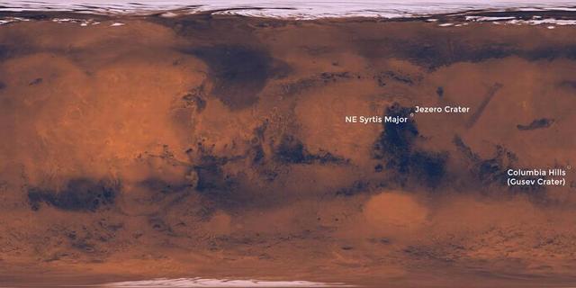 """专家研讨会确定""""火星2020任务""""三个着陆点"""
