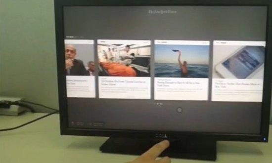 纽约时报针对PC推出体感操控的新闻阅读应用